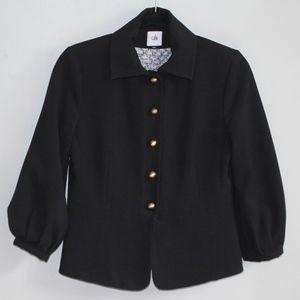 CAbi 3027 Black Abbott Jacket Brass Toned Buttons